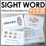 Numbers 0 to 20 Interactive Sight Word Reader Bundle | Num