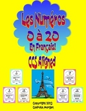 Numbers 0 to 20 - Number Posters - French - Chevron Multi. CCS Aligned.