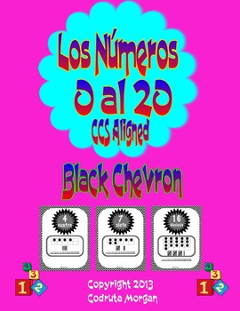 Numbers 0 to 20 - Number Posters - Spanish - Black Chevron. CCS Aligned.