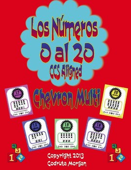Numbers 0 to 20 - Number Posters - Spanish -  Chevron Mult