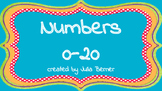 Numbers 0 to 20 Posters