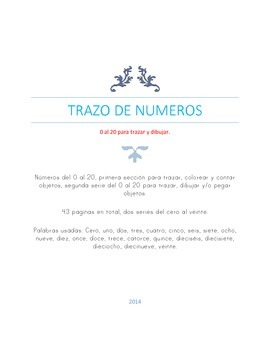 Numbers 0 to 20, in Spanish