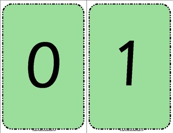 Numbers 0 to 25 Flashcards set