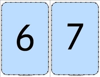 Numbers 0 to 50 Flashcards set