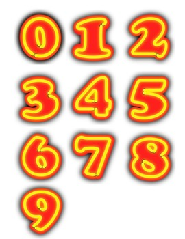 Numbers 0 to 9 Clipart