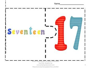 Numbers Two Piece Puzzles 11-20 Puzzles, Kindergarten, Special Education