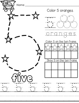 Number Practice 1-10 by Cahill's Creations | Teachers Pay Teachers