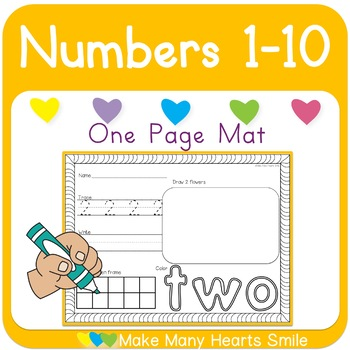 One Page Mats: Numbers 1-10