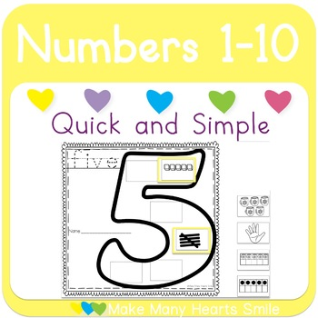 Numbers 1-10 Cut and Glue