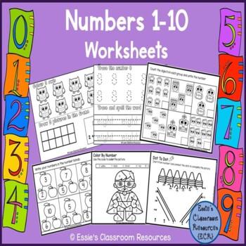 Numbers 1 - 10 Activities