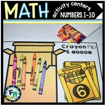Numbers 1-10 Activity Centers Pack {Bundle of 6 Centers}