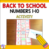 Numbers 1-10 Back to School Activity