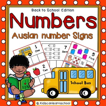 Numbers 1-10- Back to School Edition with Auslan Australian signs.