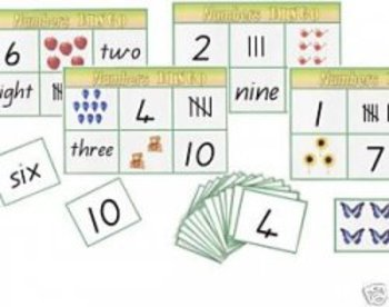 Numbers 1-10 Bingo Game