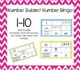 Numbers 1-10 Bingo or Builder
