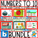 Numbers 1-10. Boom Cards Growing Bundle. Pre-K, K and Sped