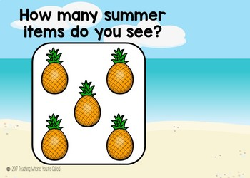 Numbers 1-10 Boom Cards - Summer Themed