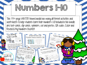 Numbers 1-10 Bundle (Winter Themed)