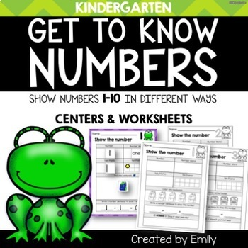 Numbers 1-10 | Centers & NO-PREP Worksheets