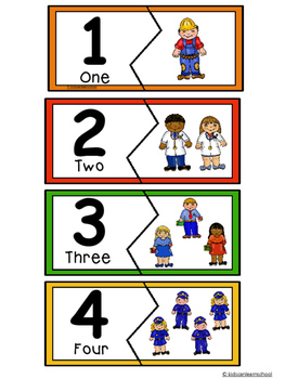 Numbers 1-10- Community Helpers puzzles