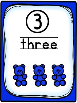 Numbers 1-10 Counting Bear Mats
