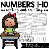 Numbers 1-10   Counting and Writing Practice Worksheets
