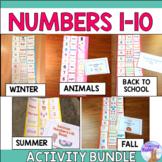 Numbers 1 - 10 Cut & Paste Activity Bundle