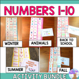 Numbers 1 - 10 Cut & Paste Activity Bundle