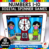 Numbers 1-10 Digital Spinner Activities (Distance Learning)