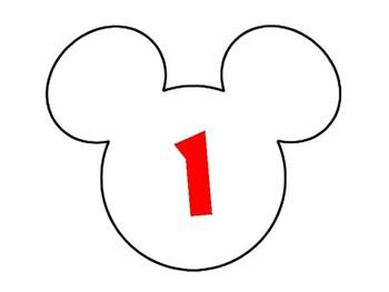 Disney Classroom Numbers 1-10