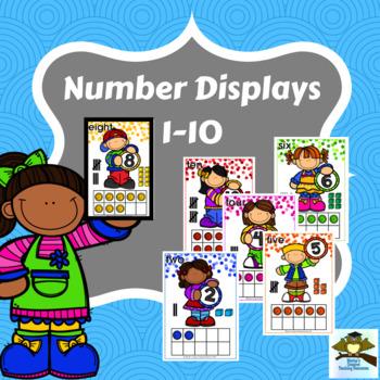 Numbers 1-10 Displays