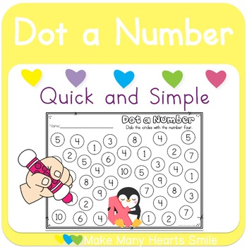 Numbers 1-10: Dot a Number