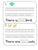 Numbers 1-10 English traceable practice worksheet set