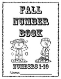 Numbers 1-10 Fall Number Book