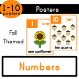 Numbers (1-10) - Fall Themed Posters