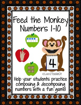 Numbers 1-10: Feed the Monkey while practicing number sense!