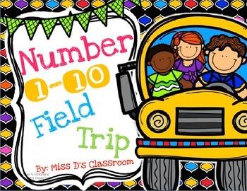 Numbers 1 - 10 Field Trip Bundle!