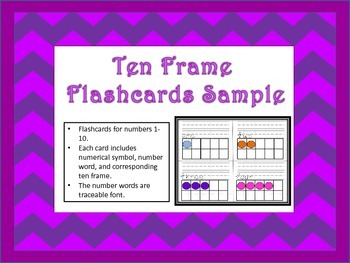 Numbers 1-10 Flashcards Sample