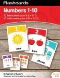 Numbers 1-10 Flashcards / Set of 10 / Printable