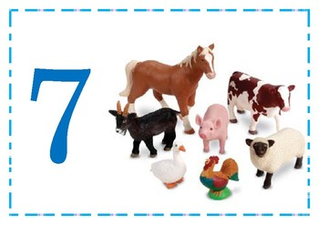 Numbers 1-10 Flashcards with pictures