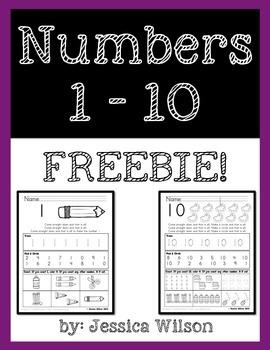 Numbers 1-10 Freebie!