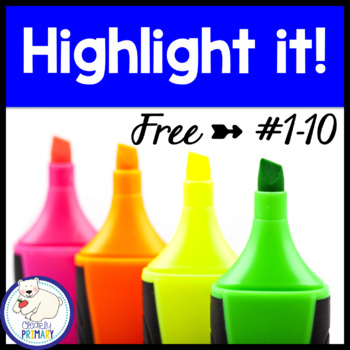 Numbers 1-10:  Highlight it! Free