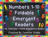 Numbers 1-10 Interactive Number Books!  ~Color & B&W Versions~  CC Aligned!