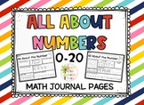Numbers 1-10 Journal Pages