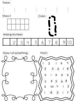 Numbers 1-10 Kindergarten Pack