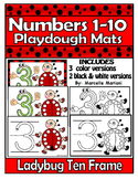 Numbers 1-10 Ladybug Ten Frame Playdough Mats (INSECTS THEME)