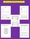 Numbers 1-10  Practice Pages-Tracing, Writing, Representing, and Counting