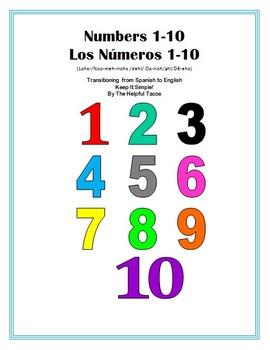 Numbers 1-10 Los Números del 1-10