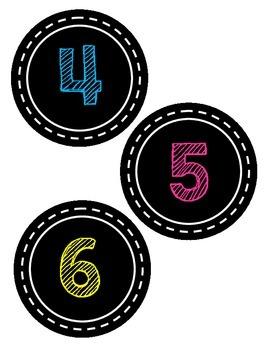 Numbers 1-10 (Match Chalk Theme)