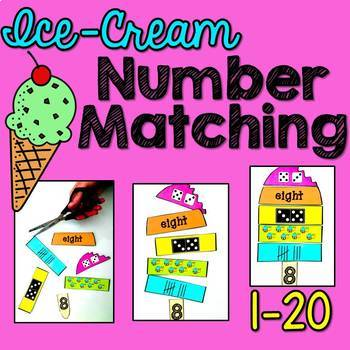 Numbers 1-20 Matching Activity